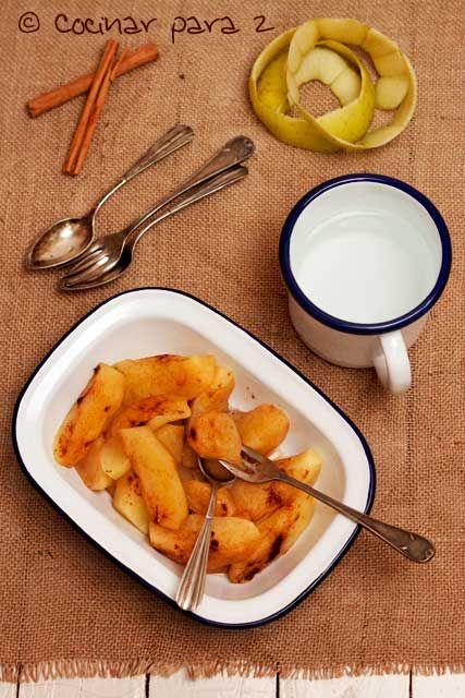Manzanas asadas en el microondas con receta recetas microondas pinterest - Cocinar pescado en microondas ...