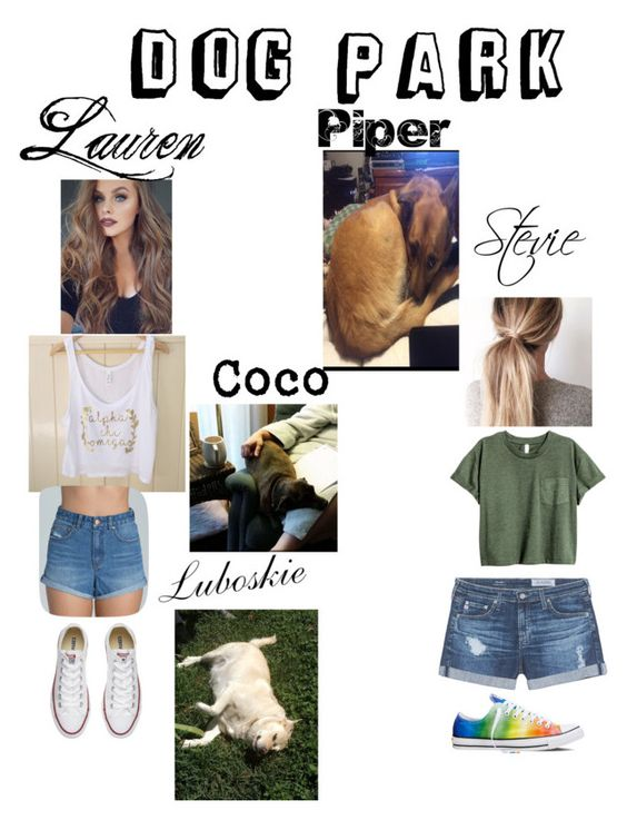 """""""Going to the dog park yay."""" by laurensadler1 on Polyvore featuring Billabong, Converse and AG Adriano Goldschmied"""