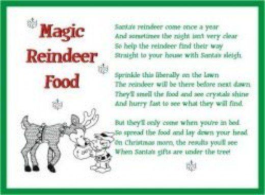20 awesome letter from santa reindeer food graphics complete printable magic reindeer food poems magic reindeer food spiritdancerdesigns Choice Image