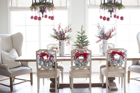 Holiday Decor Restoration Hardware Table My Home Pinterest Red Green Pink Peonies And