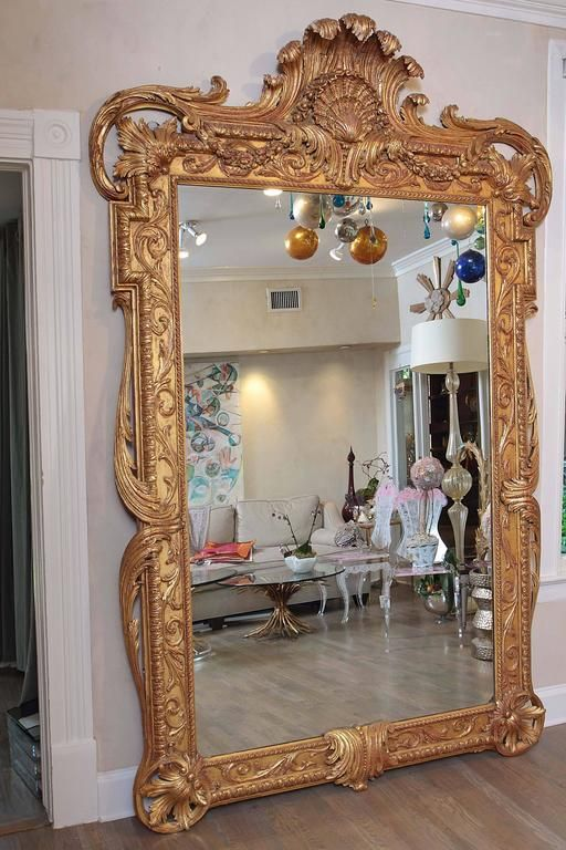Extra Large Full Length Gold Rococo Dress Mirror Large Vintage Mirror Gold Ornate Mirror Gold Mirror Living Room