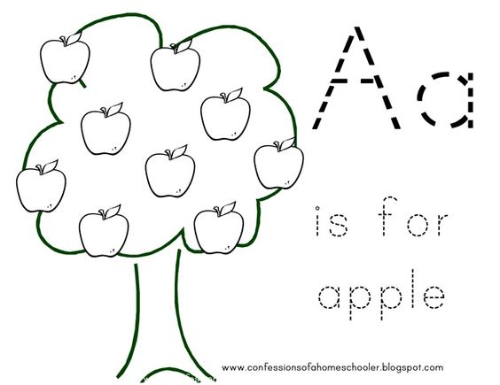 A Is For Apple Coloring Sheet Learning Time Pinterest