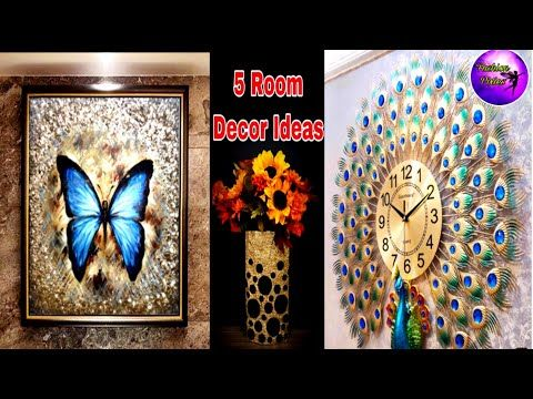 5 Home Decor Ideas 5 Minute Crafts Art And Craft Room Ideas Fashion Pixies Youtube In 2020 Wall Decor Crafts Crafts Paper Crafts Diy