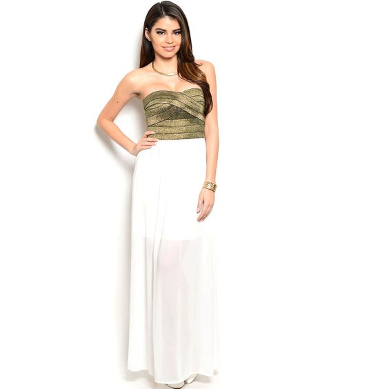 Shop The Trends Women&39s Banded Glitter-top Strapless Combination ...