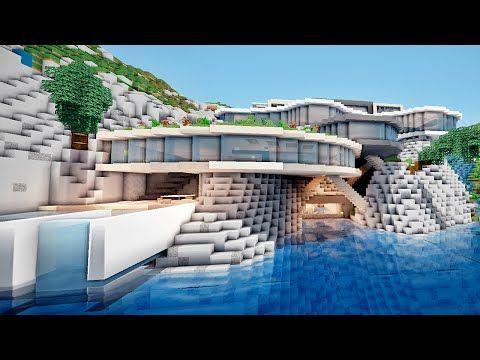Minecraft Enorme Maison Moderne Sur Une Falaise Minecraft Enorme Maison Moderne Sur Un In 2020 Minecraft House Tutorials Modern Minecraft Houses Minecraft City