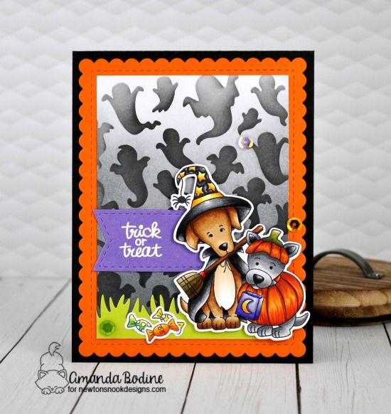 August Reveals Day 4 Witchy Newton Happy Howl Oween And Ghosts Stencil Halloween Wishes Halloween Cards Halloween Coloring