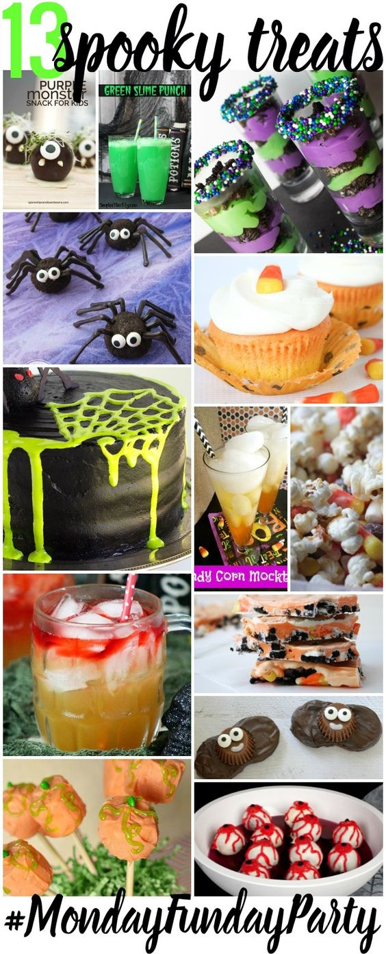 What a bunch of yummy Halloween treats. Spooky Treats at thebensonstreet.com #halloween