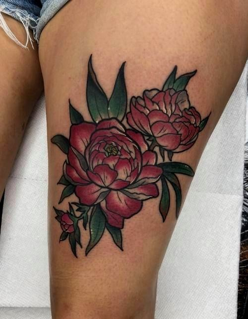 Peonies By Jose Arvizu At Ace Of Hearts Long Beach Body Art Tattoos Gorgeous Tattoos Nerd Tattoo