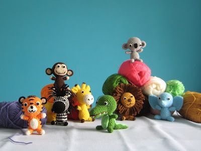 joana em banho maria: bonecos*dolls jungle animals