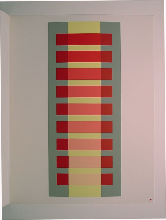 """Josef Albers, """"Interactions of Color"""".  Josef Albers (1888-1976 ) was one of the most influential teaching artists and color theorists of the 20th century. He was a master of Germany' s Bauhaus group from 1925 until the Nazis closed it in 1933"""