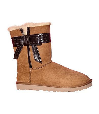 Very Cute New Uggs Brown Uggs With A Side Bow Dillards