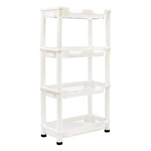 Bearhouse Plastic Free Standing Shower Caddie For Bathroom Storage 4 Tiers This Stand Alone Shower Organiz Bathroom Storage Units Bathroom Storage Shower Caddy