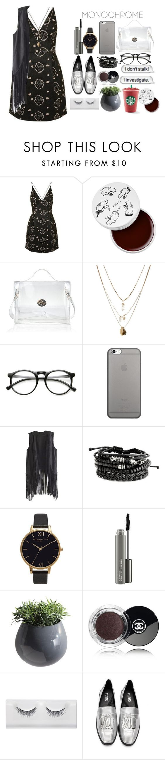 """""""Look by:Melanie"""" by melanie-pacheco ❤ liked on Polyvore featuring Topshop, too cool for school, Orelia, INDIE HAIR, Native Union, Olivia Burton, MAC Cosmetics, Dot & Bo and Chanel"""