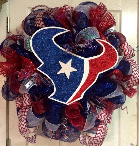 Houston Texans Wreath  by HighMaintenanceDes on Etsy