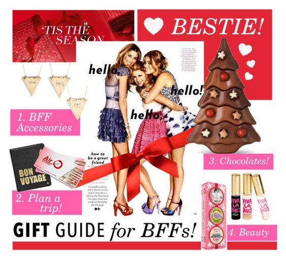 """""""Gift guide for bestie!"""" by groove-muffin ❤ liked on Polyvore featuring Estée Lauder, Juicy Couture, Nashelle, Hayden-Harnett and Soap & Glory"""