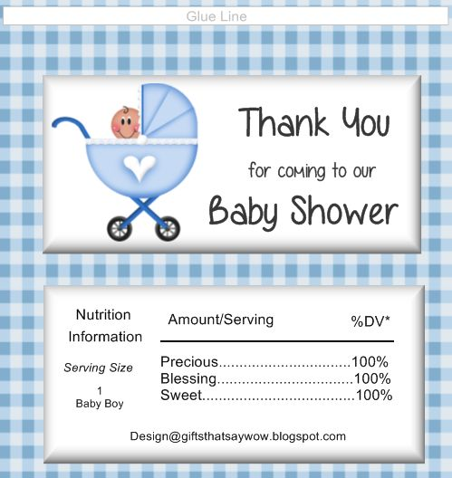 Modern Baby Boy - 20 Mini Candy Bar Wrapper Sticker Labels - candy bar wrapper template