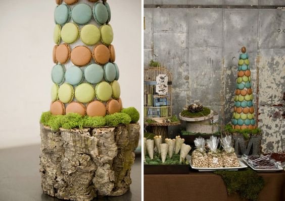 Dessert Table with macaroons