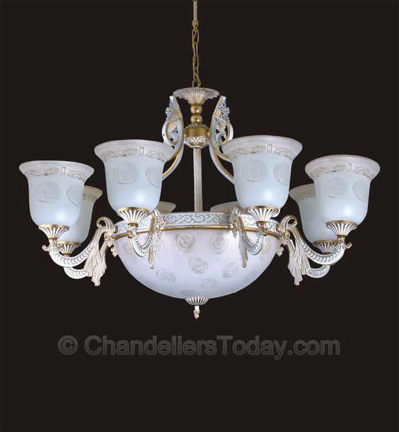 Alabaster Chandelier #245 8+3 Light