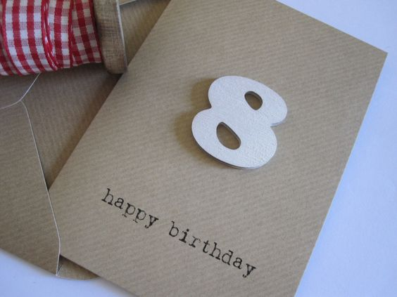 'any age' card - white, £2.50