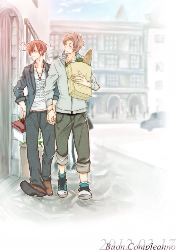 Spain & Romano | Hetalia #anime #yaoi