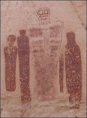 A 7000 year old cave painting that happens to look a lot like the iconic police box of a certain time traveling Timelord.