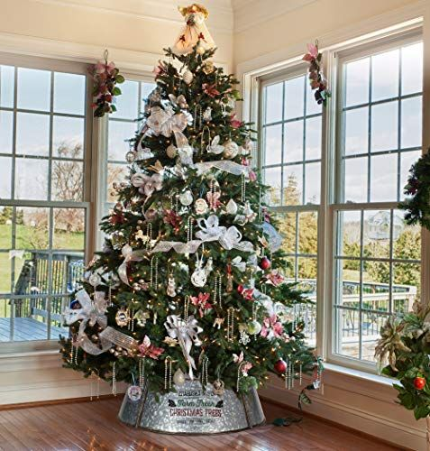 Kibaga Farmhouse Christmas Tree Collar Authentic Easy Set Up 30 Tree Ring Tree Skirt Decorates Your Home For The Holidays Christmas Decorations Christmas Tree Farmhouse Christmas Tree Holiday Decor Christmas