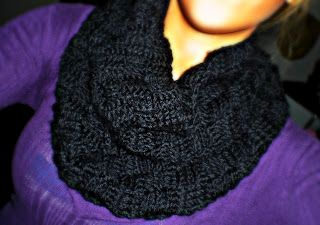A Little Loopy, But I'm Hooked: Basketweave Stitch Infinity Scarf