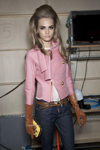 modelsoffthecatwalk:    Dsquared  FW 2012  Cara Delevingne