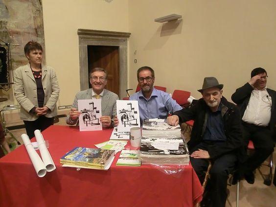 Fabio Civitelli, Francesco Micoli e Italo Marucci com Carlo Monni ao fundo