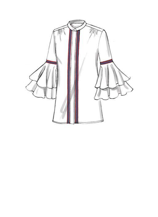 V9331 Misses Shirt Sewing Pattern Vogue Patterns Sketsa Model Pakaian Model Pakaian Pakaian