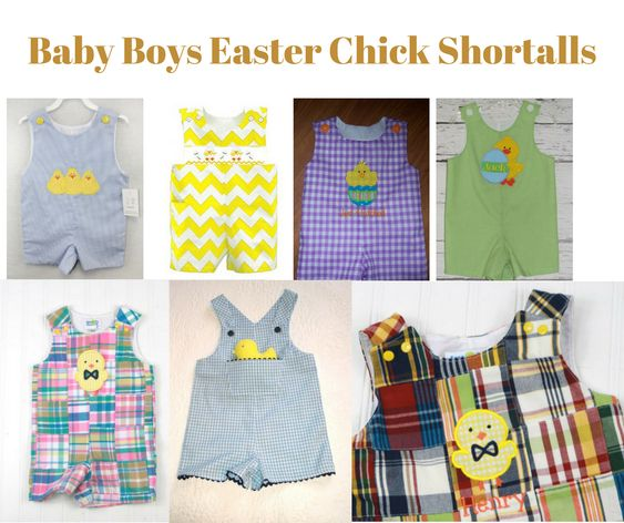 Baby Boys Easter Chick Shortalls