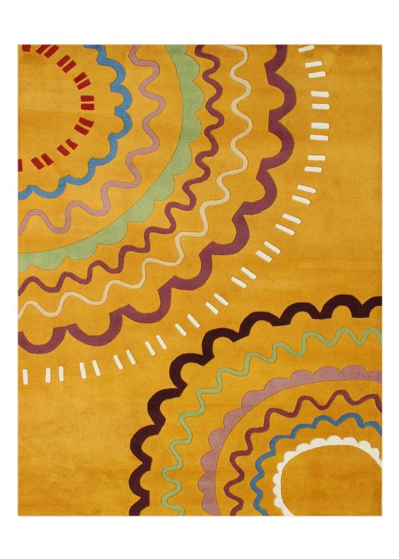 Arwal Hand-Tufted Orange Area Rug
