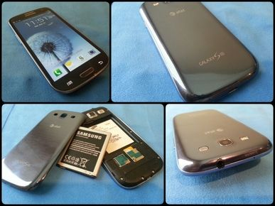 The AT Samsung Galaxy S3 Is available in pebble blue and marble white they retail for $199.99 with a two year contract.
