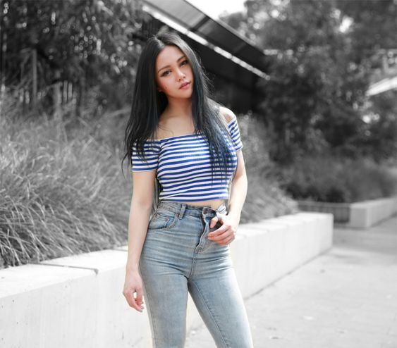 MINKPINK Stripes and Denim - Chloe Ting - Melbourne Australia Fashion Blogger