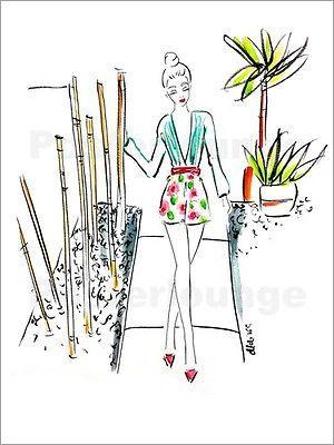 Poster-Leinwandbild-bamboogirl-Melissa-Corsari