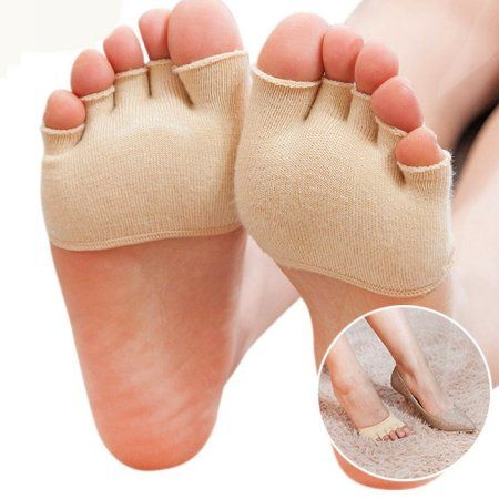 Women Yoga Half Grip Five Finger Socks Half Palm Socks Foot Care Toe Socks