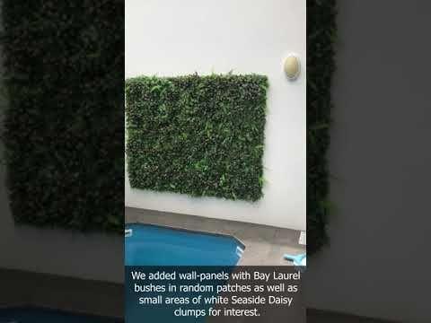 Pin By Interior Gardens Gold Coast On Artificial Plant Videos Artificial Plants Concrete Wall Interior Garden