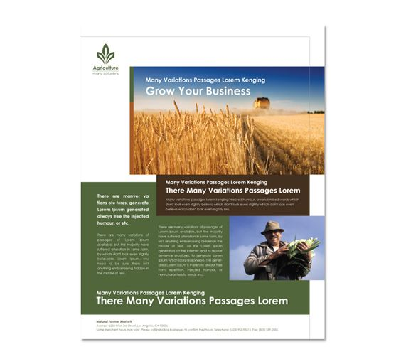 Flyers flyer template and agriculture on pinterest for Agriculture brochure templates
