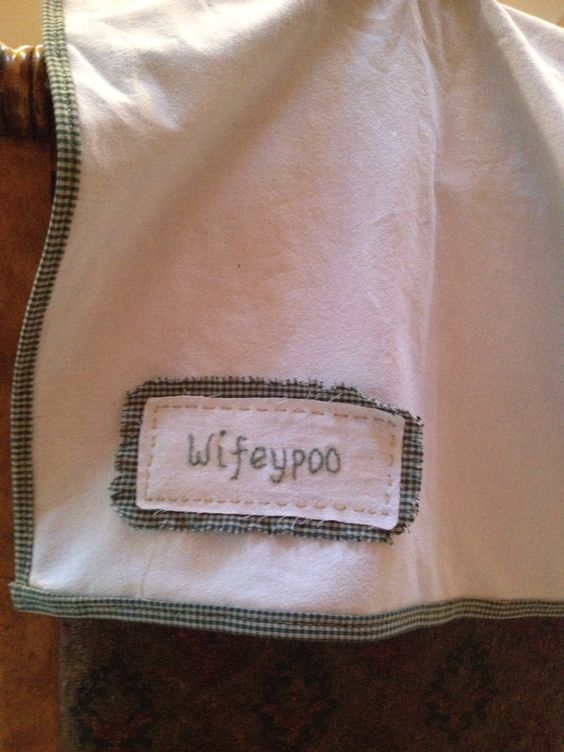 I just created this dish towel for myself today  My hubby calls me wifeypoo