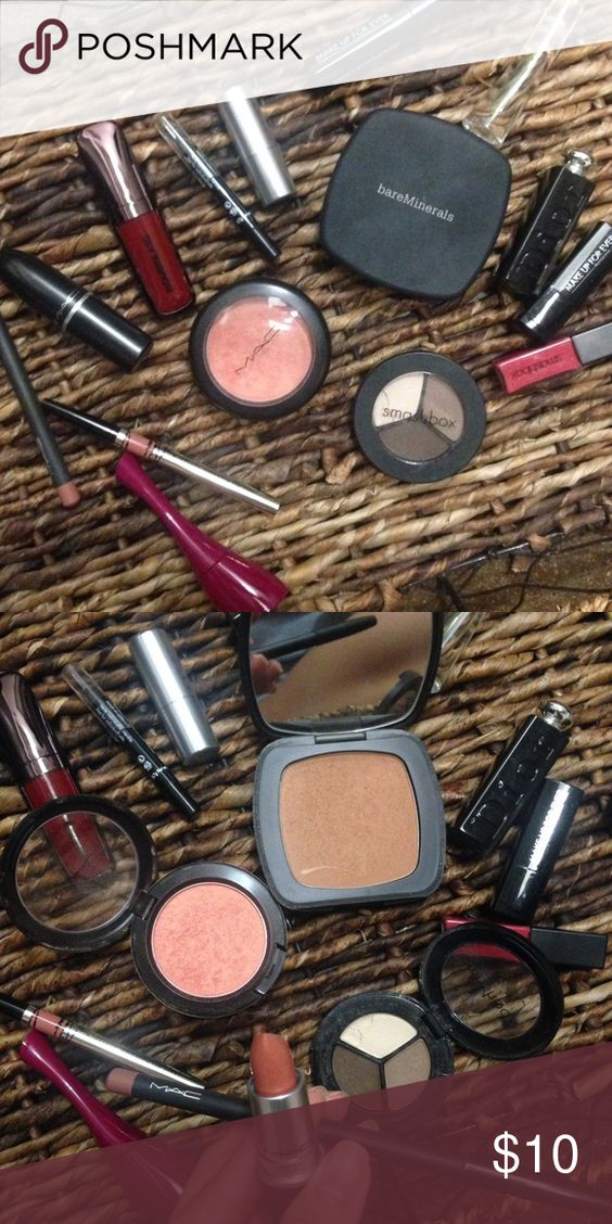 Bundle of make ups Mac hourglass bare minerals Used. Offer me a deal + I do bundle sale in my closet! Ask for more pics and details. Xx MAC Cosmetics Makeup Lipstick