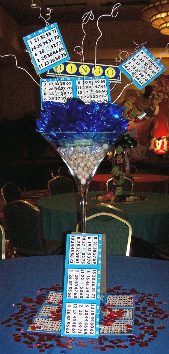 Bingo centerpieces centerpiece ideas pinterest