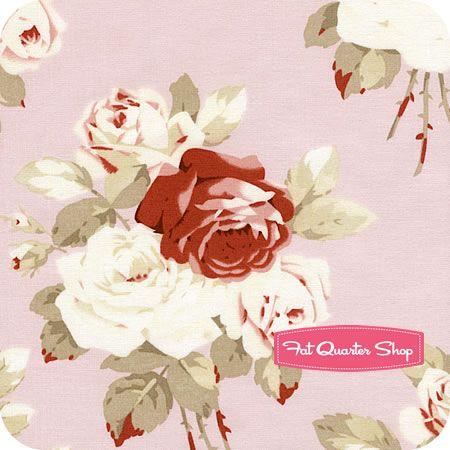 Petal Pink Large Antique Roses Yardage SKU# PWTW055-PINKX