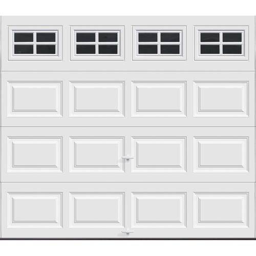 Ideal Door Ez Set 5 Star 8 X 7 White Raised Panel Insulated Garage Door At Menards Ideal D White Garage Doors Single Garage Door Garage Door Installation