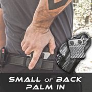 Small of Back Holster Palm In Draw