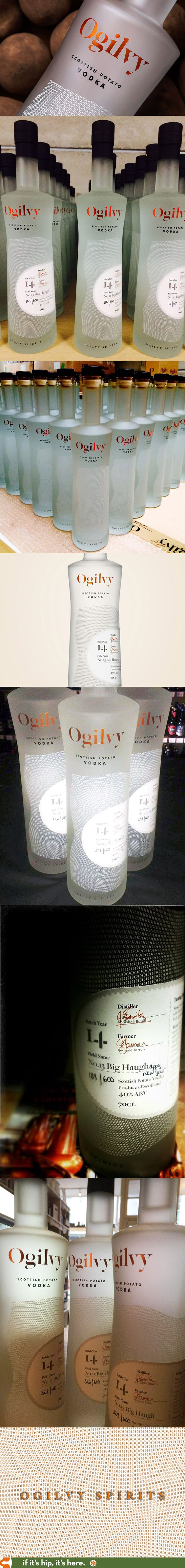 Ogilvy Scottish Potato Vodka wins a gold medal for packaging at the 2015 SF Spirits Competition.
