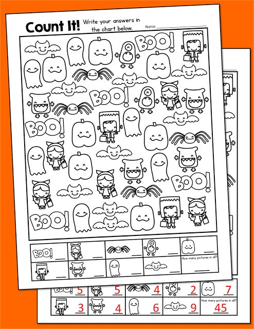 Halloween Freebie Activities | Count, Teaching and Word games