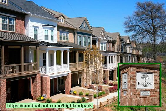Highland Park Is A Gorgeous Community Of Luxury Townhomes With Sought After Garage Parking And Covered P Townhouse Virginia Highlands Atlanta Atlanta Beltline