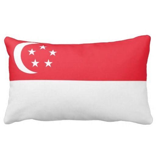 Singaporean flag pillow