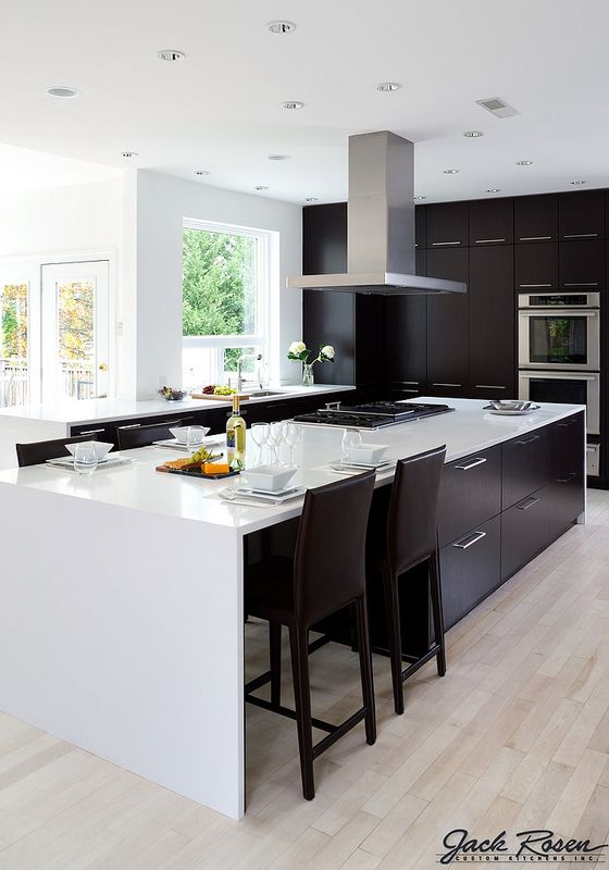 Best Jack Rosen Custom Kitchens Black And White Modern 400 x 300