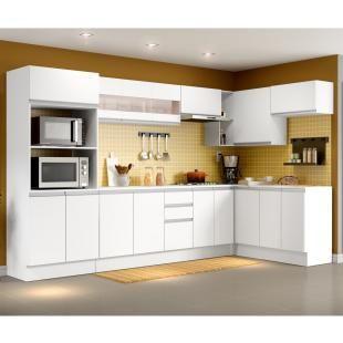 Cozinha Completa Madesa Smart Com Balcao Nicho Para Forno 17 Portas 2 Gavetas Mdf Com As Melhores Condicoes Voce Enco Cozinha Completa Cozinha Moveis Cozinha